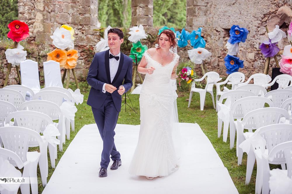 cérémonie laïque sortie des mariés
