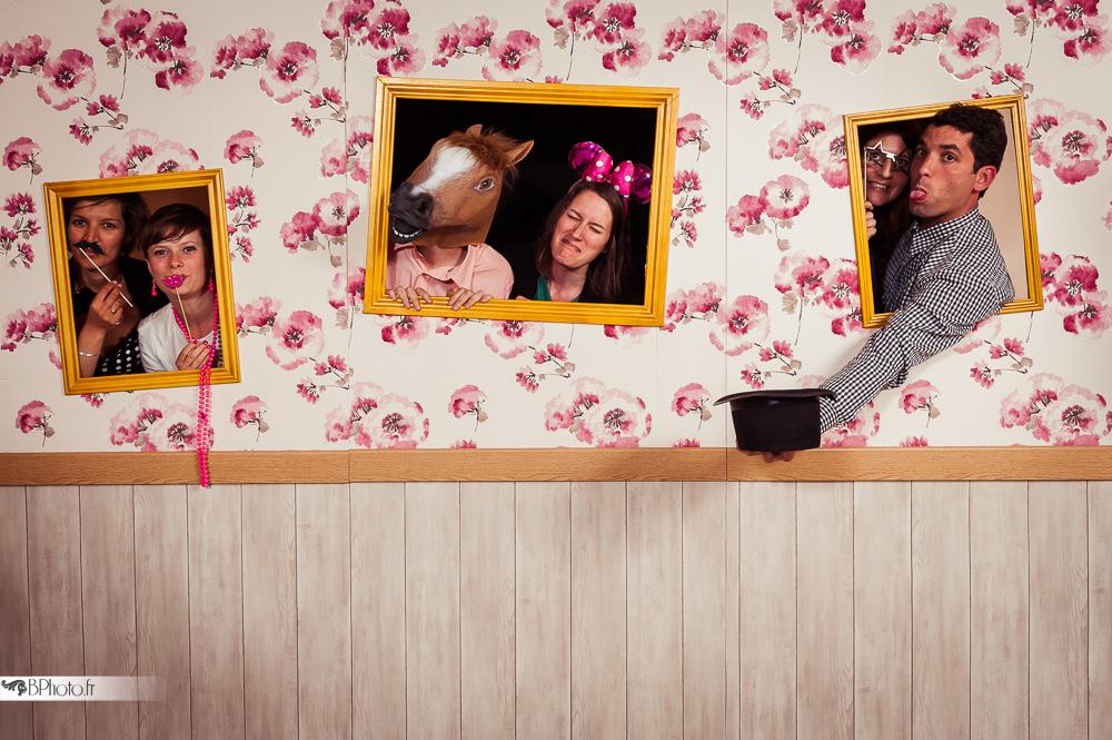 photobooth décor cadres